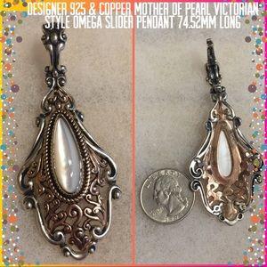 Designer 925 STER Silver/Copper MOP Pendant